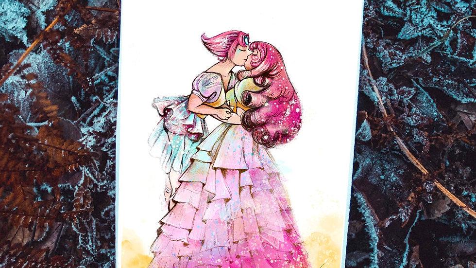 """""""Rose quartz and Pearl."""""""