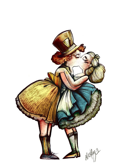 """Mad hatter and Alice"""