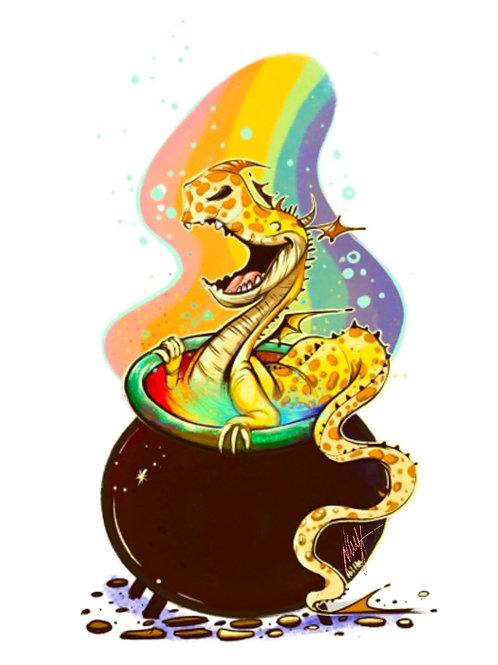 Little rainbow dragon