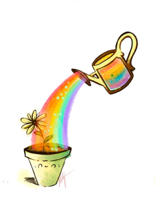 Rainbow flowerpot