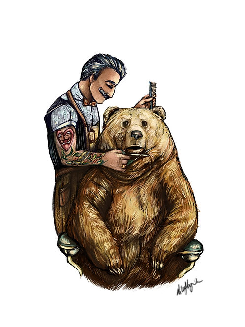 """""""Barber bear"""""""