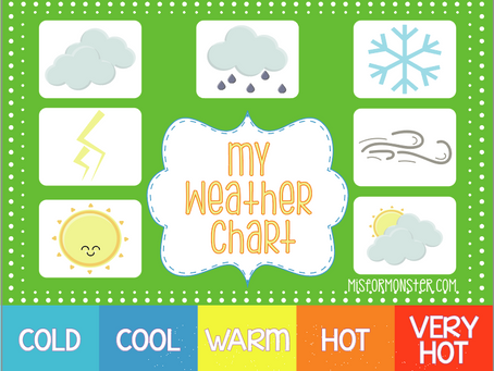 My Weather Chart free printable
