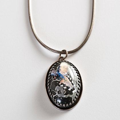 Formosa Blue Magpie - Necklace #NSPN5