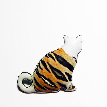 Tabby Cat - Brooch #FCBRO6