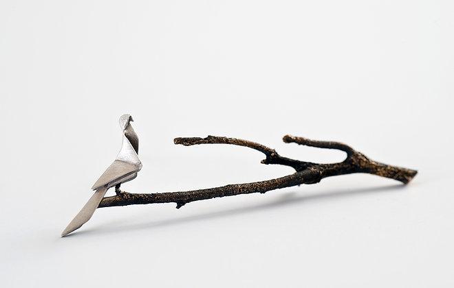 Formosa Blue Magpie - Brooch #NSTBRO2