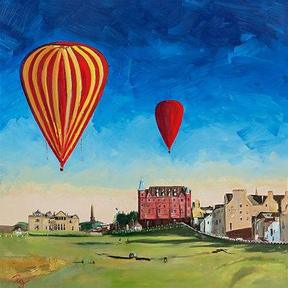 Flying over St Andrews