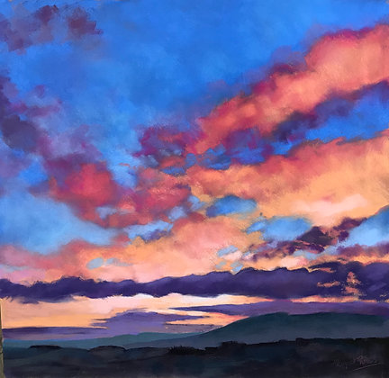 Pink Clouds over Ochils