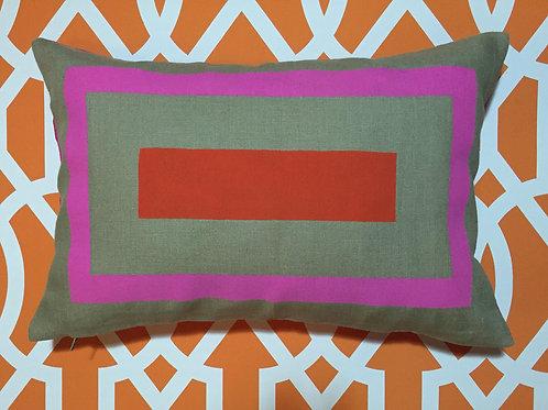 Outline linen pillow