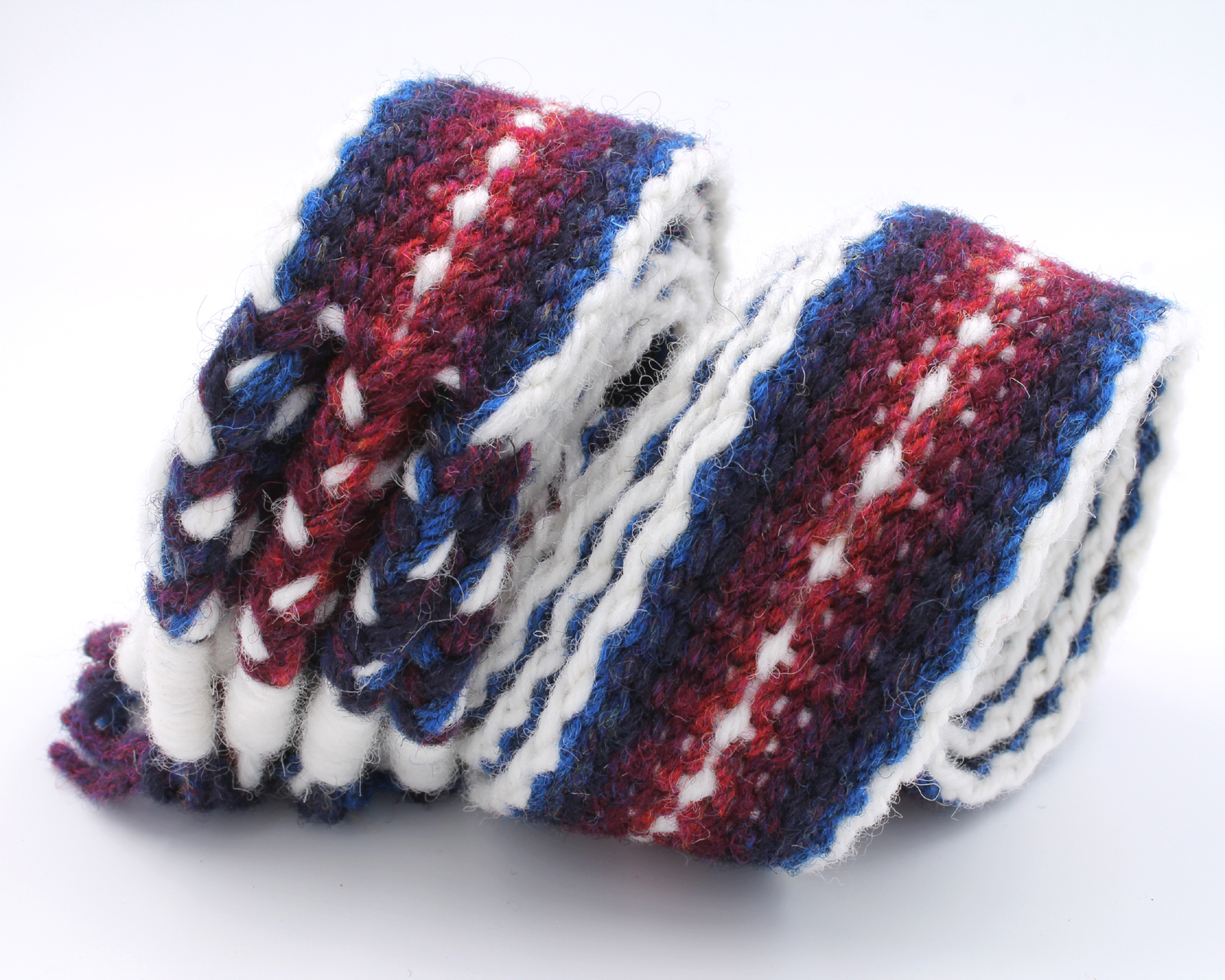 Handfasting Cord - Burgundy and Navy 1