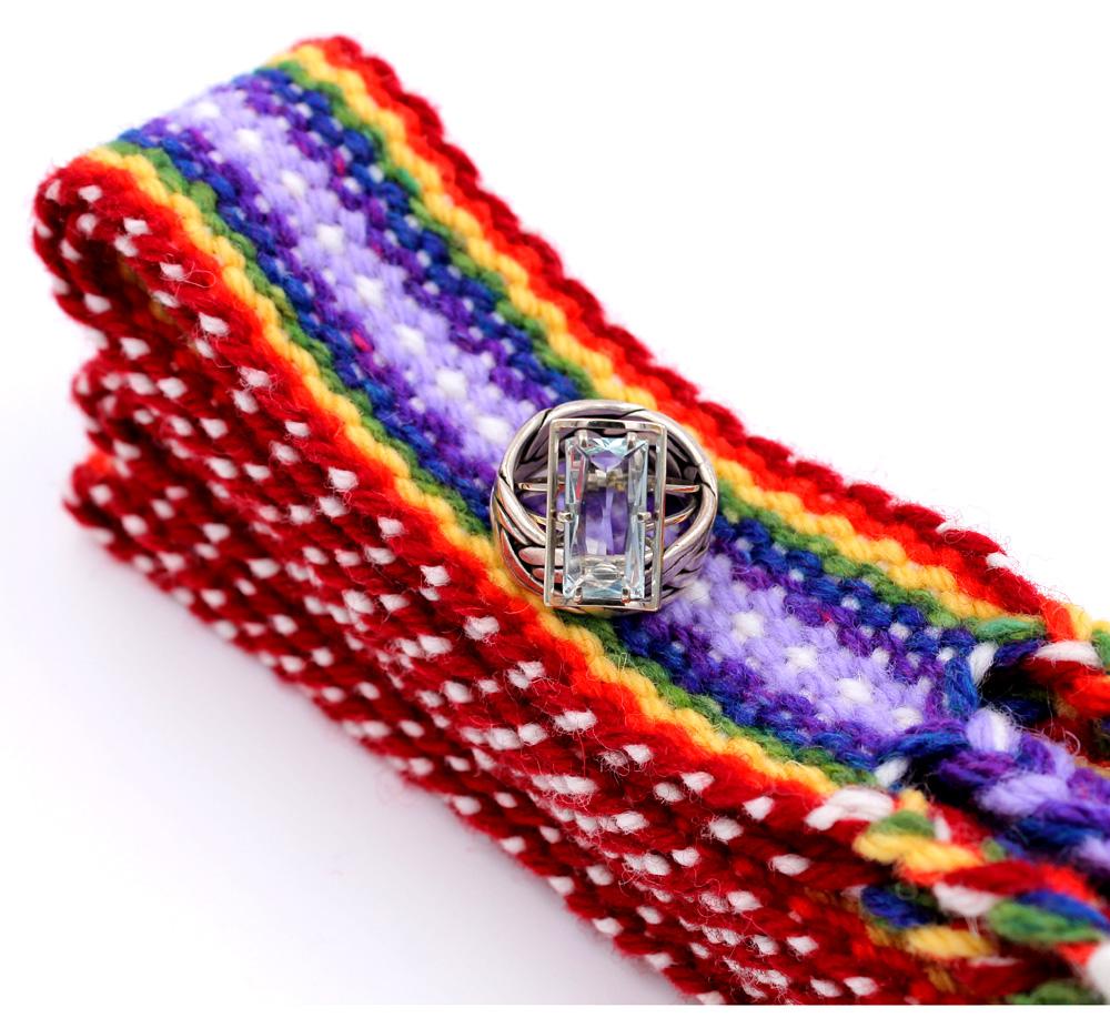 Handfasting Cord - double rainbow 3