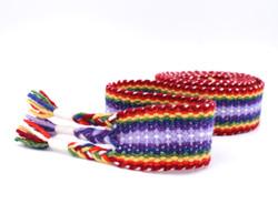 Handfasting Cord - double rainbow 4