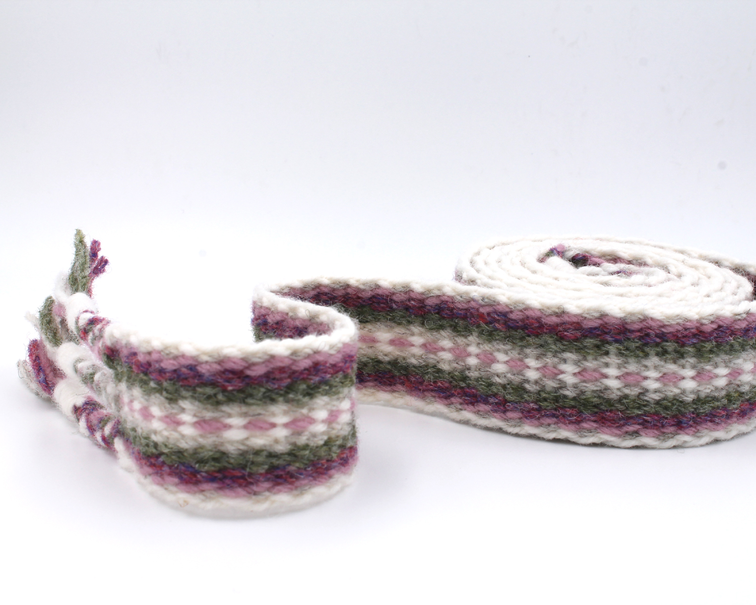 Handfasting Cord - Dusty Rose and Sage 7