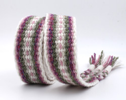 Handfasting Cord - Dusty Rose and Sage 4