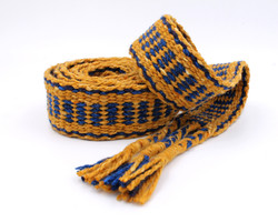 Handfasting Cord - Sapphire and Gold  (2