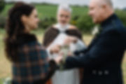 Handfasting cord in Irish wedding