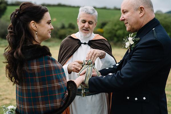 Handfasting cord in Irish wedding