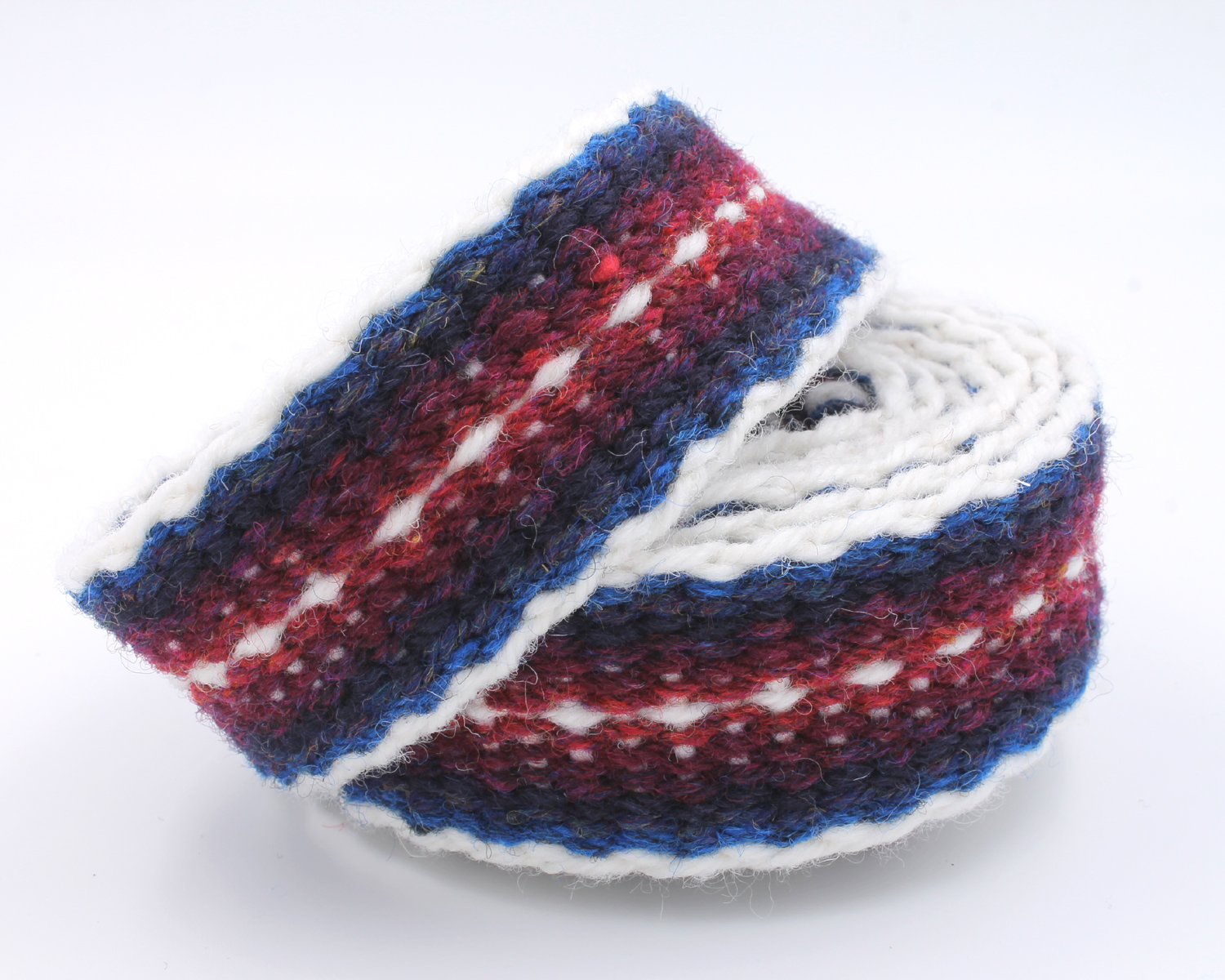Handfasting Cord - Burgundy and Navy 3