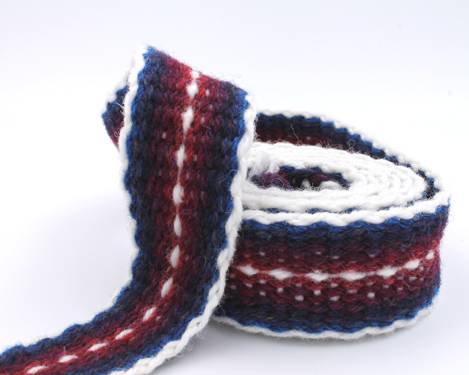 Handfasting Cord - Burgundy and Navy 4