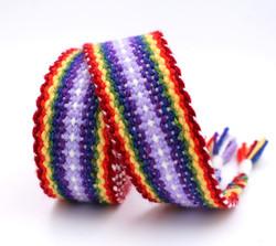 Handfasting Cord - double rainbow