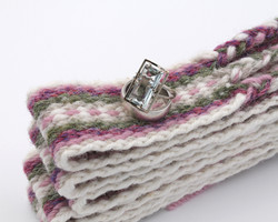 Handfasting Cord - Dusty Rose and Sage 6