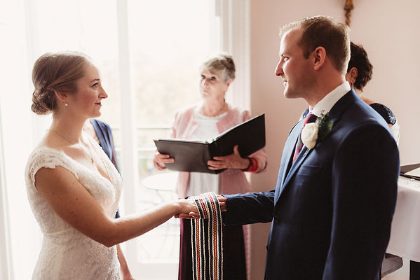 Handfasting cord in wedding ceremony