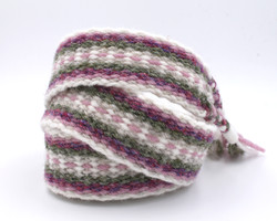 Handfasting Cord - Dusty Rose and Sage