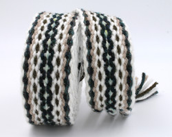 Handfasting Cord - Champagne and Evergre