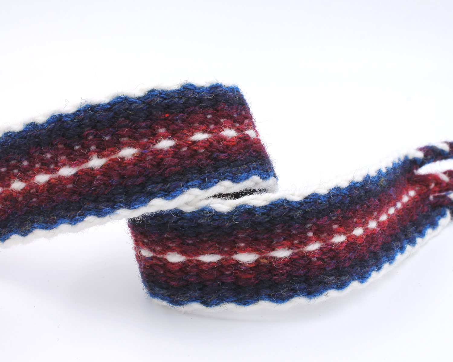 Handfasting Cord - Burgundy and Navy 6