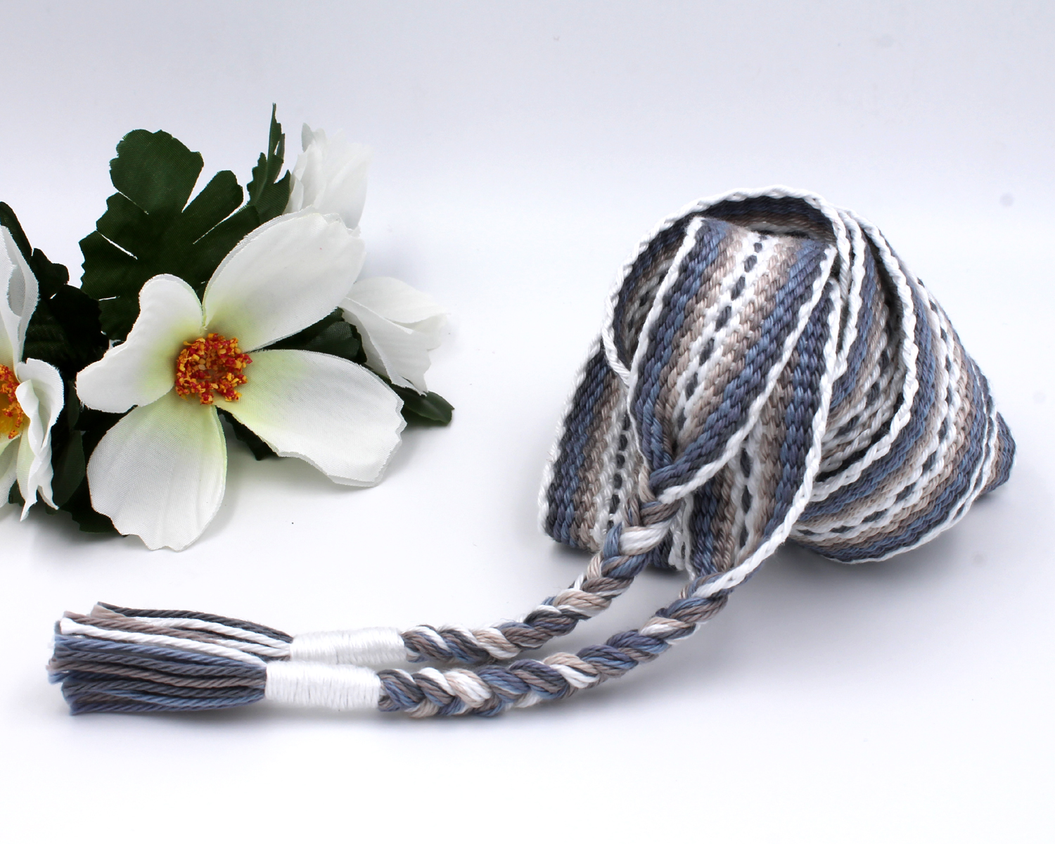 Handfasting Cord - Silver Linings 6