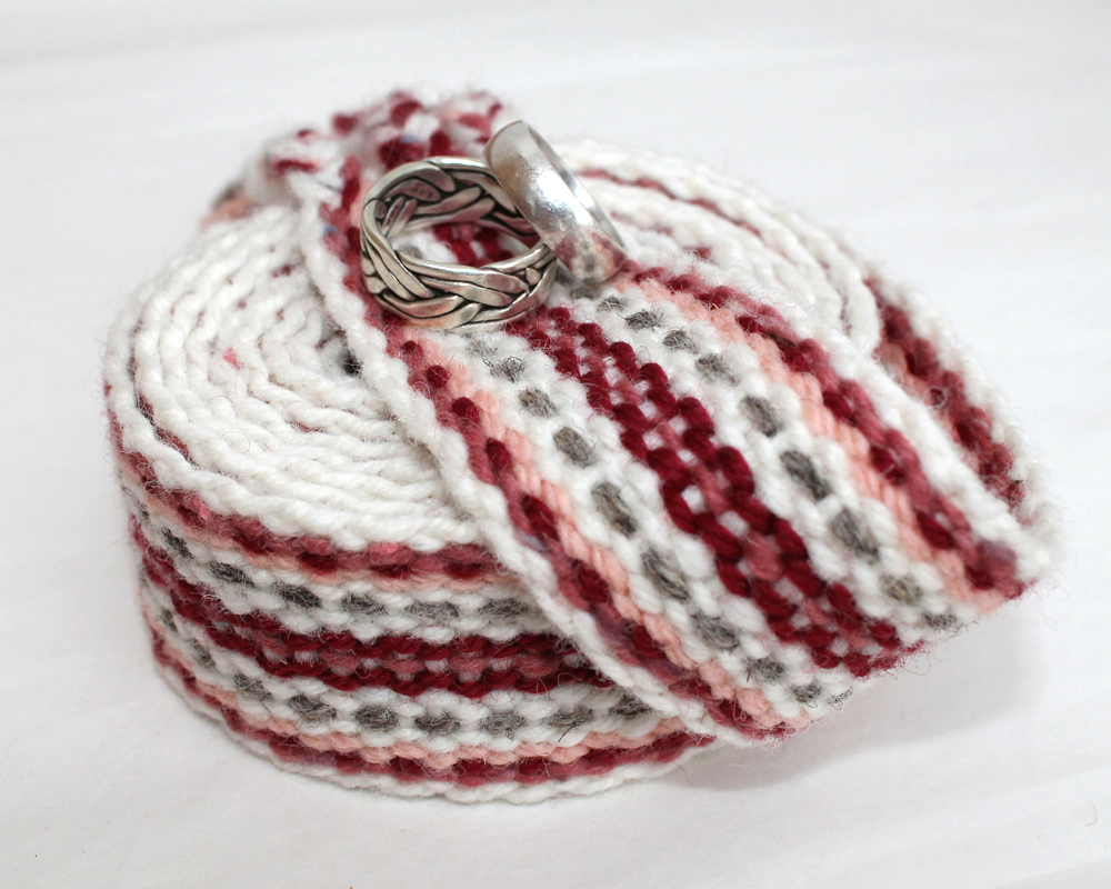 handfasting cord - silver rose