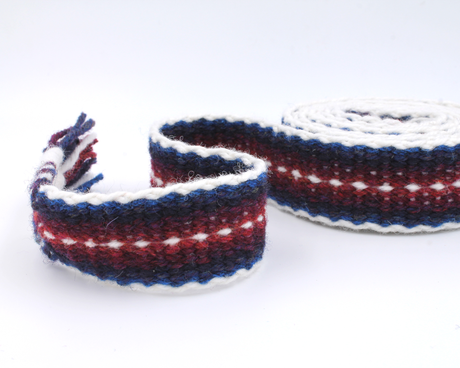 Handfasting Cord - Burgundy and Navy 5