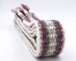 Handfasting Cord - Dusty Rose and Sage 5
