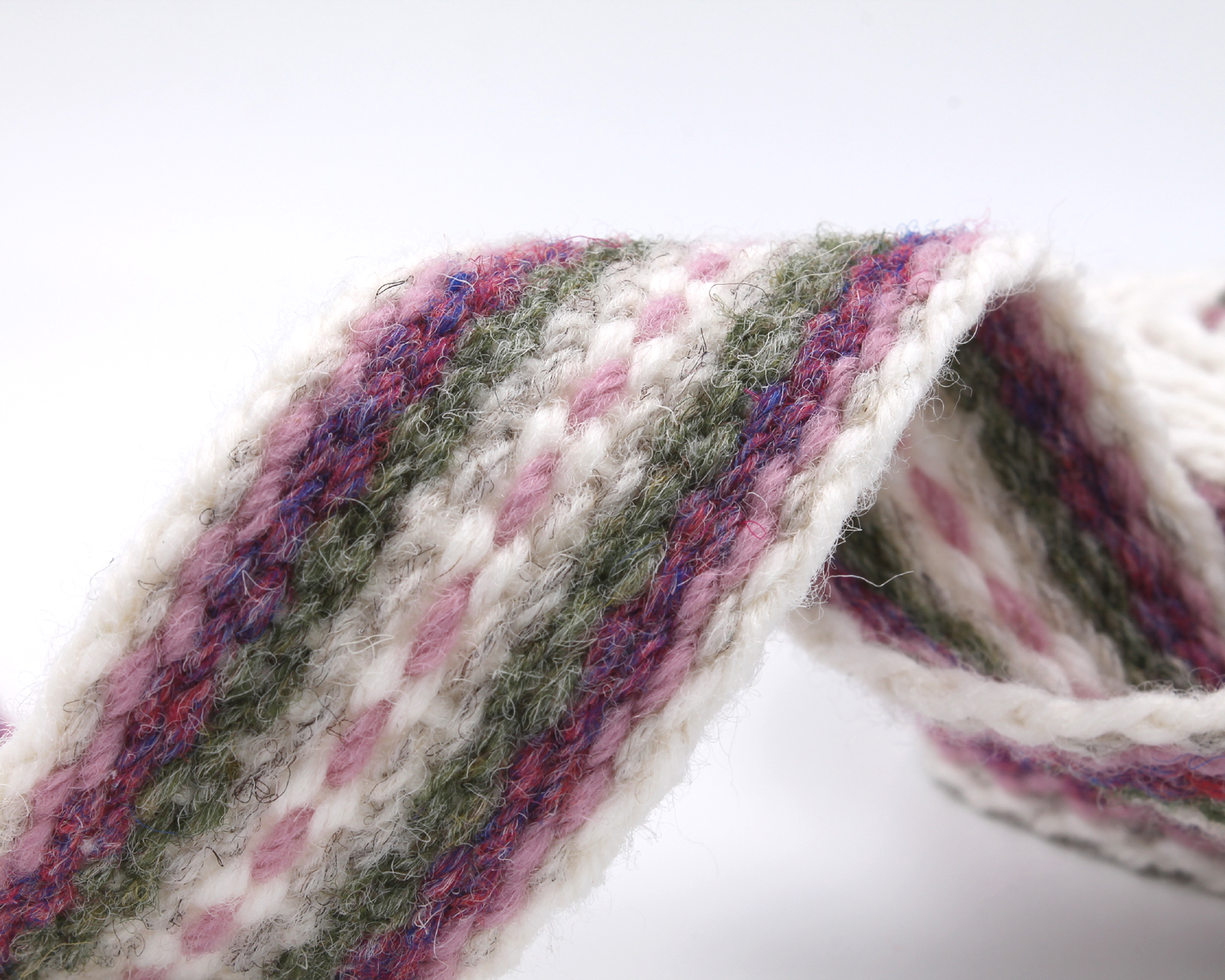 Handfasting Cord - Dusty Rose and Sage 2
