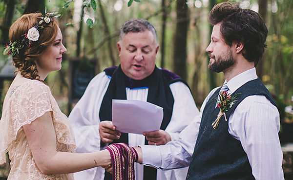 Handfasting Cord in boho wedding