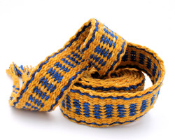 Handfasting Cord - Sapphire and Gold  (1