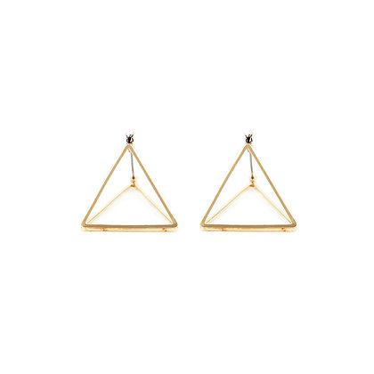 Geometric 3D Triangle Earrings