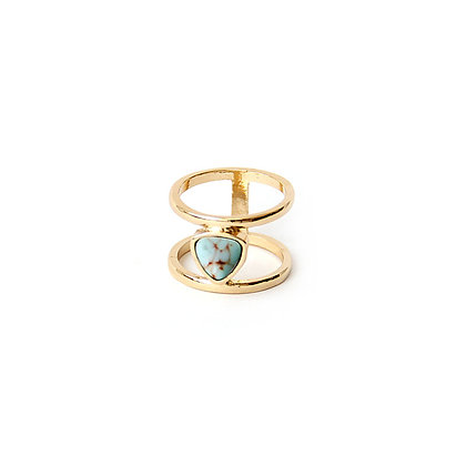 Turquoise Marble Cut-Out Ring