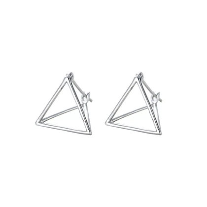 3D Hollow Triangular Earrings