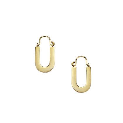 S925 U Hoop Earring