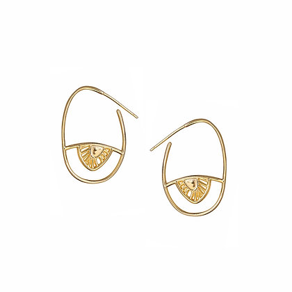 S925 Evil Eye Hoop Earrings
