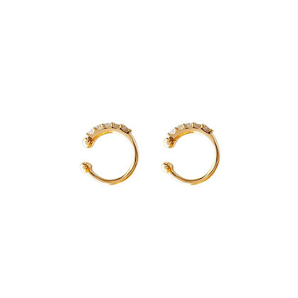 S925 CZ Cuff Earrings