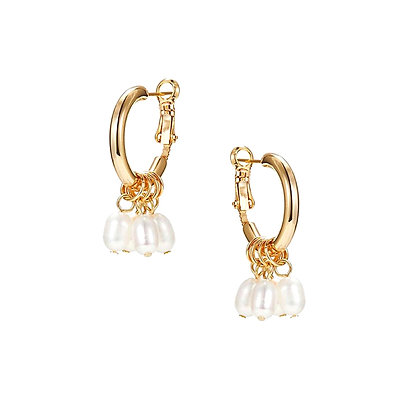 Cluster Peal Drop Earrings -S925 Post