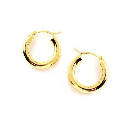 S925 26mm Chunky Thick Hoop Earrings