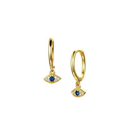 S925 CZ Evil Eye Drop Earrings