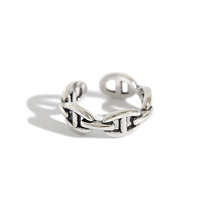 S925 Chain Adjustable Ring