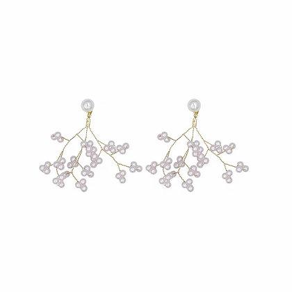 Bridal Pearl Tree Earrings- S925 Post