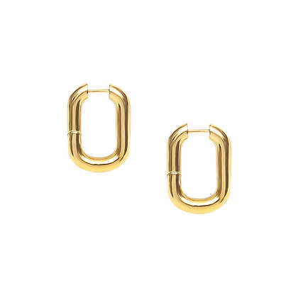 Oval Square Hoop Earrings
