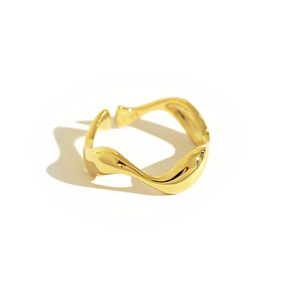 S925 Wave Ring
