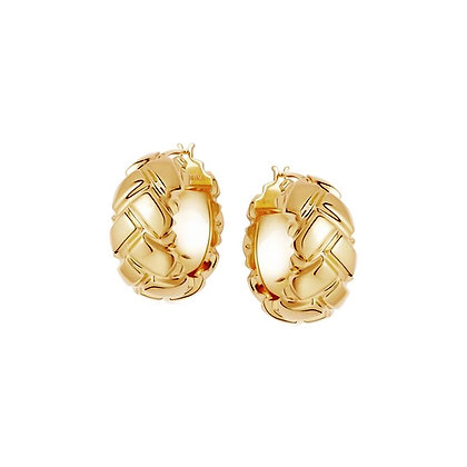 Lattice 20mm Gold Hoops