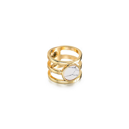 Triple Band Marble Ring